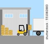 loader  forklift loading boxes  ...