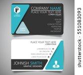 blue triangle modern creative... | Shutterstock .eps vector #551083093