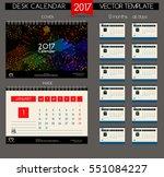 design desk calendar 2017.... | Shutterstock .eps vector #551084227