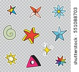 Patch Badges With Stars. Vecto...