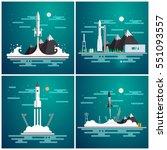 vector illustration set with... | Shutterstock .eps vector #551093557