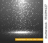 glowing glitter light effects... | Shutterstock .eps vector #551094127