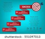 business infographics concept ... | Shutterstock .eps vector #551097013
