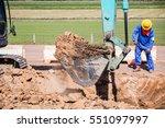Working Excavator Tractor...