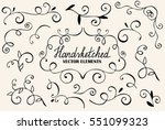 big floral set for design  hand ... | Shutterstock .eps vector #551099323