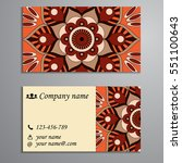 invitation  business card or... | Shutterstock .eps vector #551100643