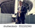 businessman traveler journey... | Shutterstock . vector #551101543