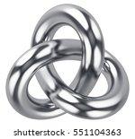 creative abstract 3d render... | Shutterstock . vector #551104363