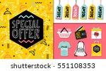 special offer. sale website... | Shutterstock .eps vector #551108353