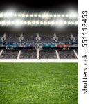 green soccer field empty with...   Shutterstock . vector #551113453