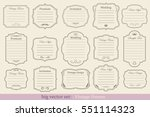 big vector set of vintage... | Shutterstock .eps vector #551114323