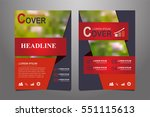 red vector annual report... | Shutterstock .eps vector #551115613