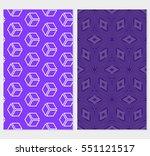set of seamless illusion cube...