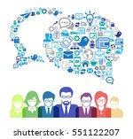 business communication concept... | Shutterstock .eps vector #551122207