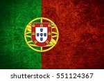 flag of portugal or portuguese... | Shutterstock . vector #551124367