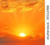 beautiful sunset | Shutterstock . vector #55112488