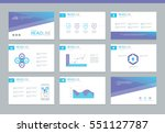 page layout design template for ... | Shutterstock .eps vector #551127787