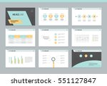 page layout design template for ... | Shutterstock .eps vector #551127847