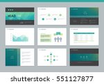 page layout design template for ... | Shutterstock .eps vector #551127877