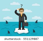 businessman with briefcase... | Shutterstock . vector #551129887