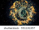 famous astronomical clock at... | Shutterstock . vector #551131357
