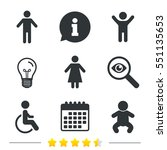 wc toilet icons. human male or... | Shutterstock .eps vector #551135653