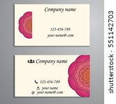 invitation  business card or... | Shutterstock .eps vector #551142703