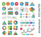 business charts. growth graph.... | Shutterstock .eps vector #551146783