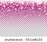 pink glitter particles and... | Shutterstock .eps vector #551148133