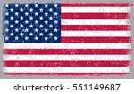 grunge usa flag.vector american ... | Shutterstock .eps vector #551149687