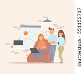 concept of the coworking center.... | Shutterstock .eps vector #551152717