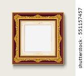 vintage gold picture  frame    Shutterstock .eps vector #551157457
