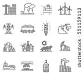 industry icons set. different... | Shutterstock .eps vector #551159113