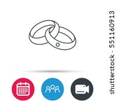 wedding rings icon. bride and... | Shutterstock .eps vector #551160913