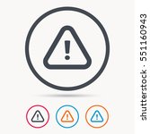 warning icon. attention... | Shutterstock .eps vector #551160943