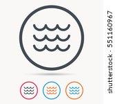wave icon. water stream symbol. ... | Shutterstock .eps vector #551160967