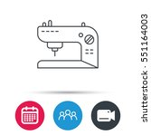 sewing machine icon. embroidery ... | Shutterstock .eps vector #551164003