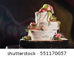 Three Tiered Wedding Cake In...