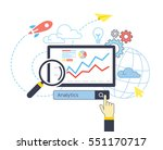 flat design of analytic search... | Shutterstock .eps vector #551170717