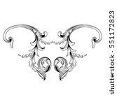 vintage baroque ornament retro... | Shutterstock .eps vector #551172823