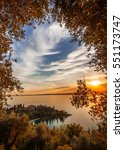 sunset over the bay sirens lake ... | Shutterstock . vector #551173747