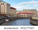 view of the moyka river... | Shutterstock . vector #551177347