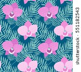 hand drawn seamless pattern...   Shutterstock .eps vector #551182543