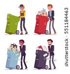 garbage man and businessmen... | Shutterstock .eps vector #551184463