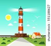 lighthouse tower vector...   Shutterstock .eps vector #551188627