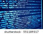 software developer programming... | Shutterstock . vector #551189317