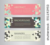 set banners collection with... | Shutterstock .eps vector #551192953