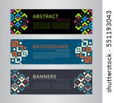 set banners collection with... | Shutterstock .eps vector #551193043