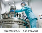 scientists working with large... | Shutterstock . vector #551196703