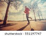 woman running. healthy sports...   Shutterstock . vector #551197747